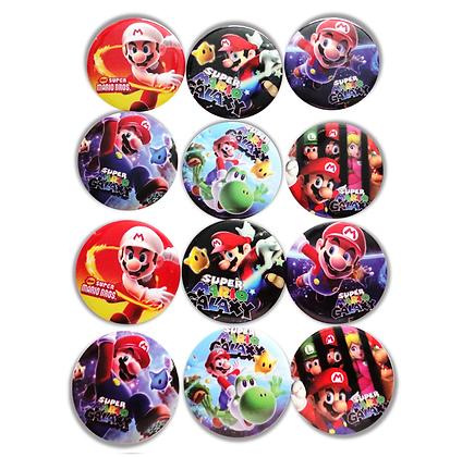 Boton metalico Mario c/12 pzas