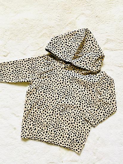 Beige Dalmatian Spot Hoodie