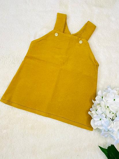 Ochre Corduroy Dungaree Dress