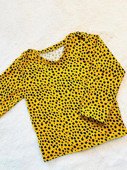 Yellow Dalmatian Spot Long Sleeve Top