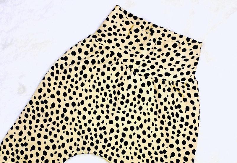Beige Dalmatian Print Shorts