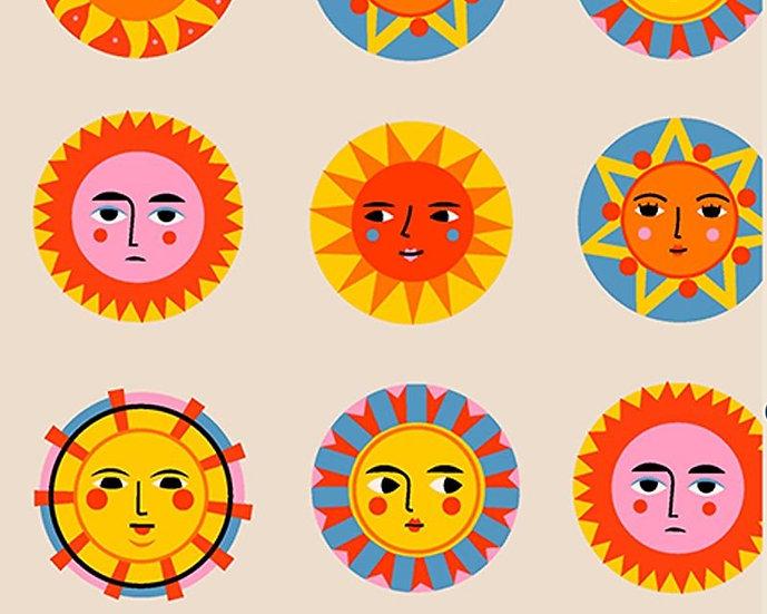 Sunshine Faces Cotton