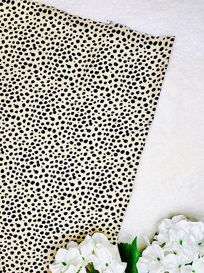 Beige Dalmatian Spot Pocket Front Skirt