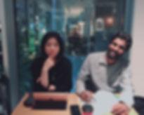 #cafe_#japaneselesson_イケメンのインド人とおしゃれなカフェ