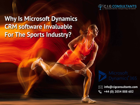 Why Is Microsoft Dynamics CRM software Invaluable For The Sports Industry?