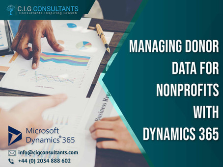 Managing Donor Data For Nonprofits With Dynamics 365