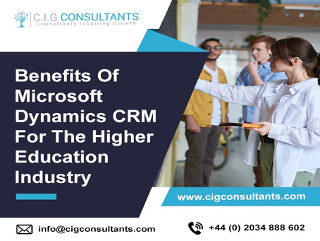 Benefits Of Microsoft Dynamics CRM For The Higher Education Industry