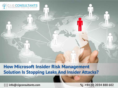 How Microsoft Insider Risk Management Solution Is Stopping Leaks And Insider Attacks?