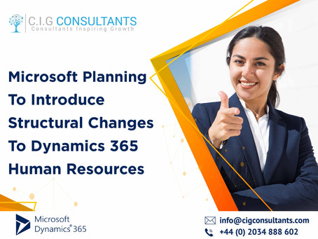 Microsoft Planning To Introduce Structural Changes To Dynamics 365 Human Resources