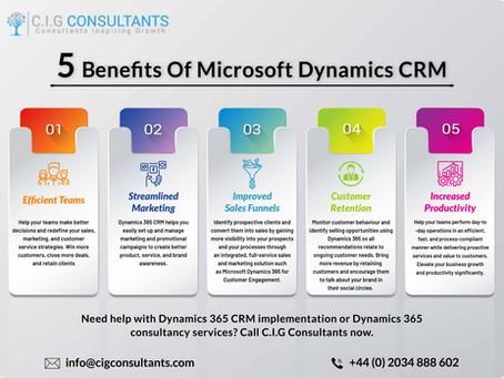 5 Benefits Of Microsoft Dynamics CRM