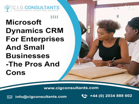 Microsoft Dynamics CRM For Enterprises And Small Businesses -The Pros And Cons