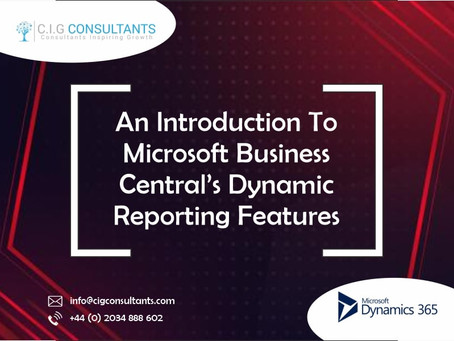 An Introduction To Microsoft Business Central's Dynamic Reporting Features