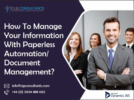 How To Manage Your Information With Paperless Automation/Document Management?