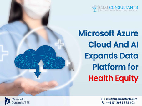 Microsoft Azure Cloud And AI Expands Data Platform for Health Equity