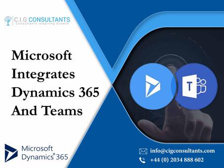 Microsoft Integrates Dynamics 365 And Teams