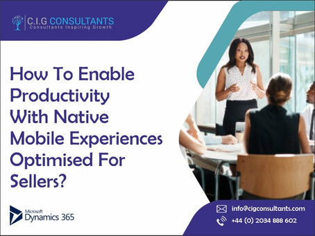 How To Enable Productivity With Native Mobile Experiences Optimised For Sellers?