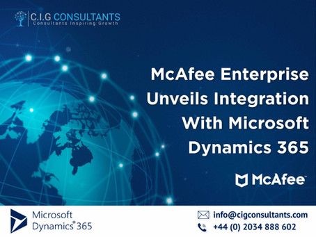McAfee Enterprise Unveils Integration With Microsoft Dynamics 365
