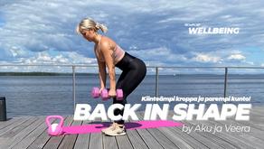 Kokemuksia valmennuksesta Back in shape by Aku & Veera