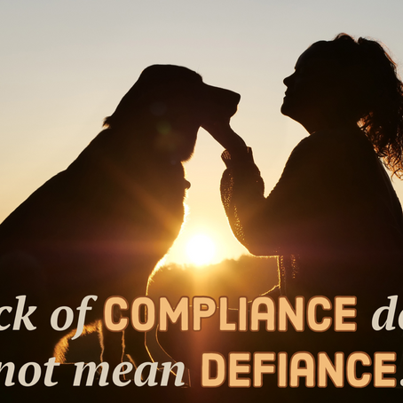 Lack of Compliance does not mean Defiance