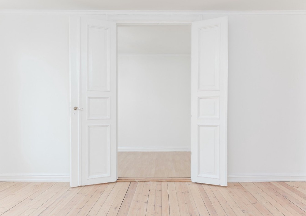 white door retail space