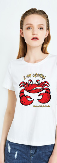 T-Shirt_Mock up_I am Crabby White.jpg
