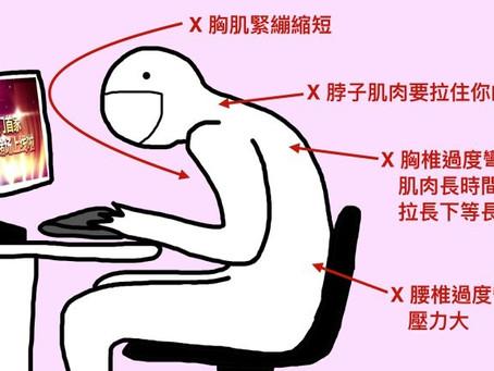 上班族的肩頸痛、腰痛