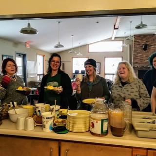 Ladies at breakfast-Winter 2018
