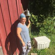 Dani ringing breakfast bell