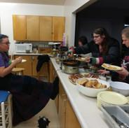 Dani serving dinner