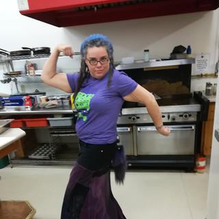 Dani kicking ass in the kitchen