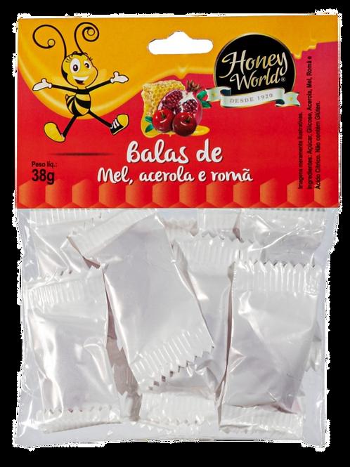BALA DE MEL, ACEROLA E ROMÃ 38G