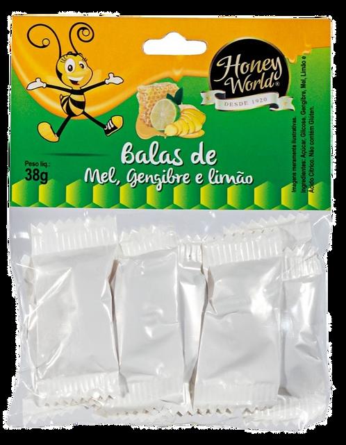 BALAS DE MEL, GENGIBRE E LIMÃO 38G
