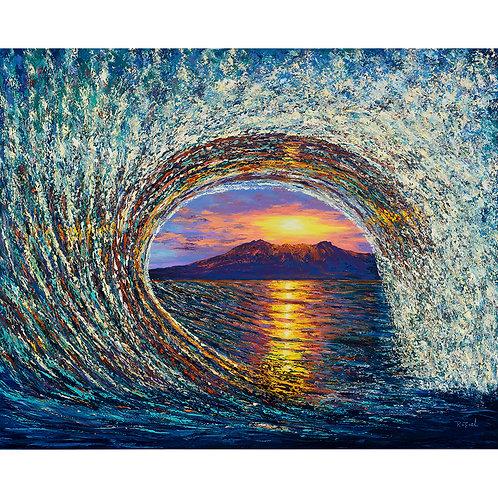 Barrel Wave Sunset