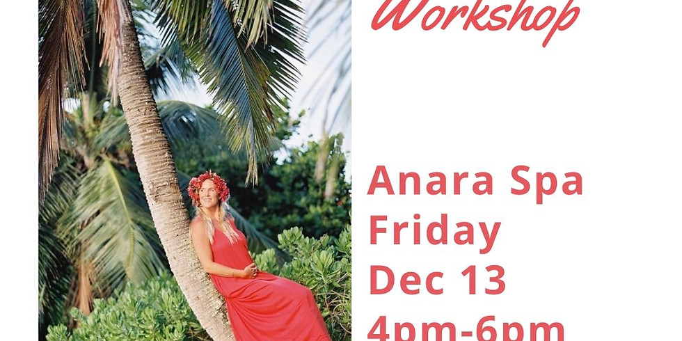 Holiday Lei Po'o Workshop at Anara Spa