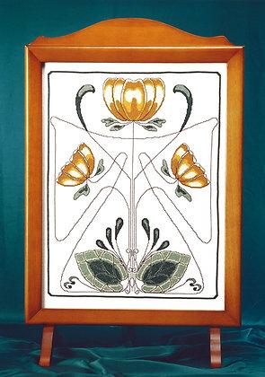 Art Nouveau Firescreen - Gold