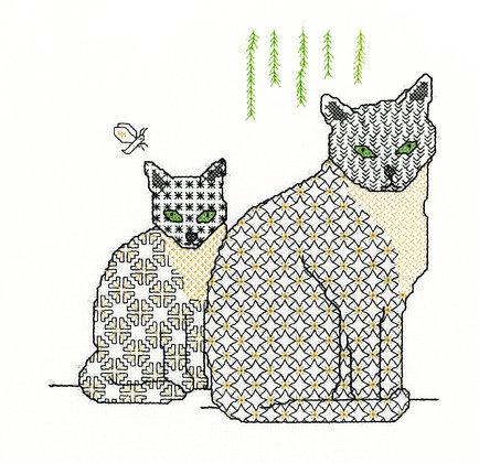 Blackwork Cats