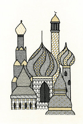 Blackwork Minarets