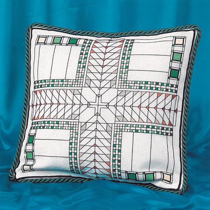 American Art Deco Cushion - green