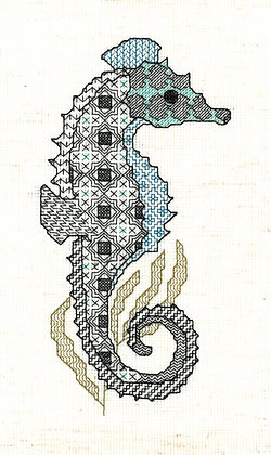 Blackwork Seahorse