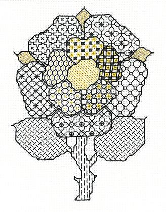 Blackwork Tudor Rose