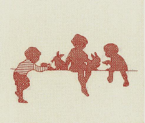 Nursery Nostalgia - Pets Galore - red