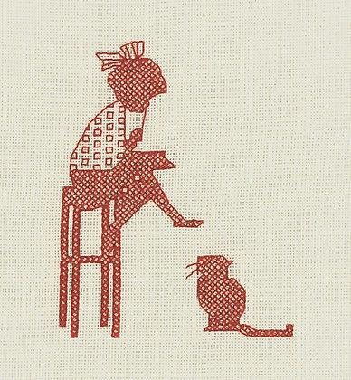 Nursery Nostalgia - Sit Still Sylvester - red
