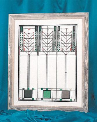 American Art Deco Firescreen - green