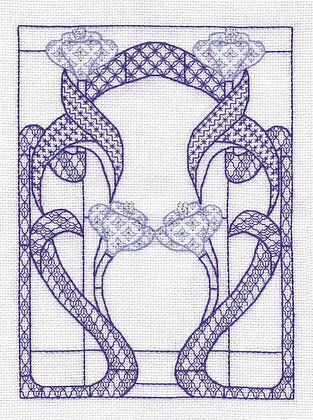 Art Nouveau Window - Blue