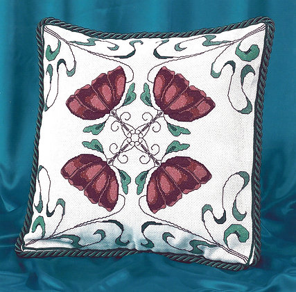 Art Nouveau Cushion - Pink