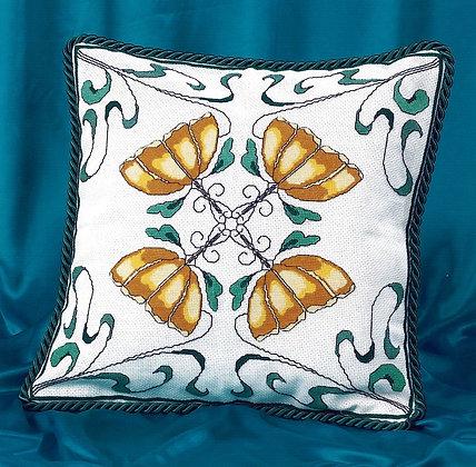 Art Nouveau Cushion - Gold