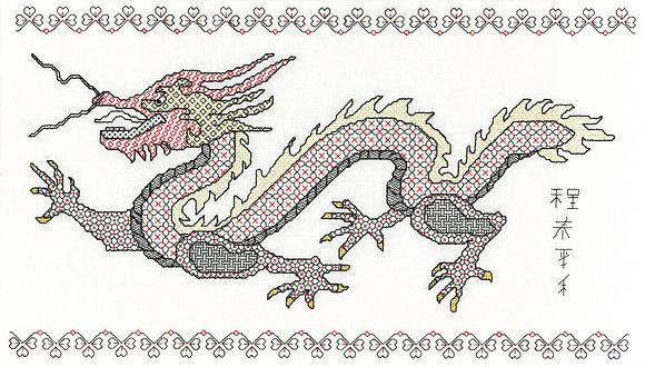 Blackwork Oriental Dragon