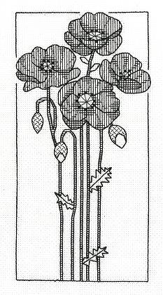 Blackwork Poppies