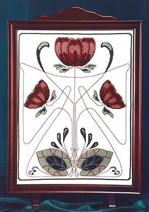Art Nouveau Firescreen - Pink