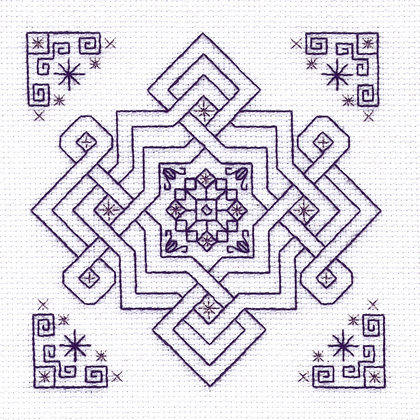 Blackwork Minis - Olives Knot
